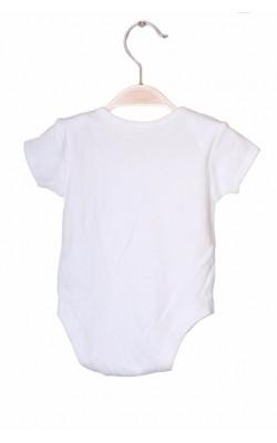 Body alb George, 0-3 luni, 5.5 kg
