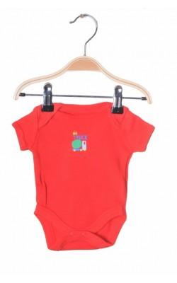 Body rosu cu imprimeu Mothercare, 0-1 luni, 3.4 kg