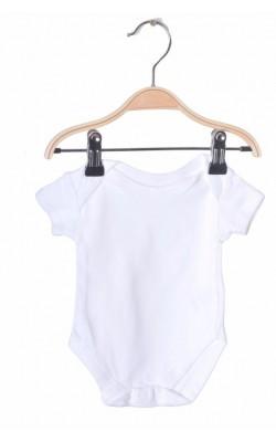 Body Tesco, bumbac alb, 0-3 luni, 6.5 kg