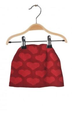 Caciula Lindex, tricot cu inimioare, 9-12 ani