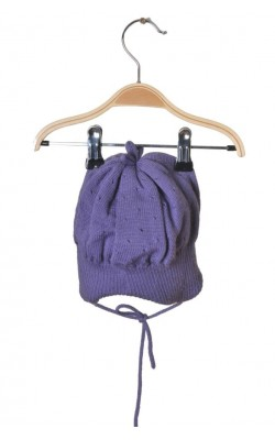 Caciula mov lana pura Reima, captusita cu bumbac, 9-12 luni