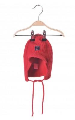 Caciula rosie lana Polarn O.Pyret, dublura fleece, 1-2 ani