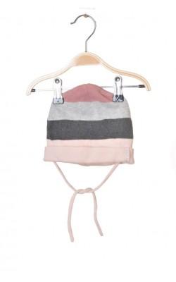 Caciula roz cu gri H&M, 1-2 ani