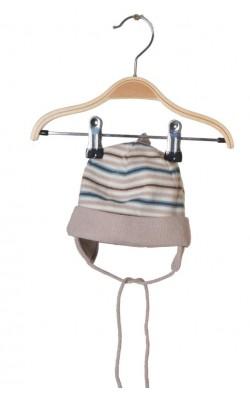 Caciula tricotata, captusita cu bumbac, 3-9 luni