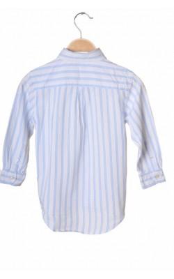 Camasa alba cu dungi bleu Gap, 5 ani