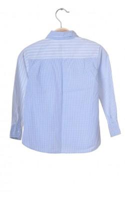 Camasa alba cu dungi bleu H&M L.o.g.g., 6-7 ani