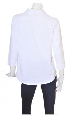 Camasa alba din jerseu bumbac Talbots, marime XL