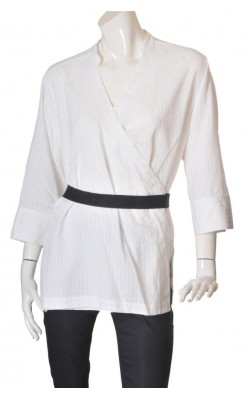 Camasa alba petrecuta H&M, marime XL