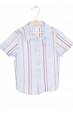 Camasa bleu cu dungi H&M, maneca scurta, 1.5-2 ani