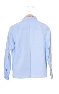 Camasa bleu din bumbac Name It, 9-10 ani