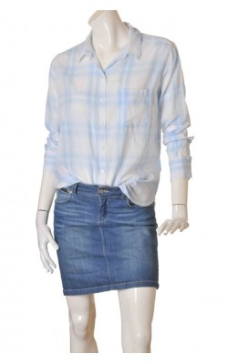 Camasa bleu H&M L.o.g.g., croi lejer, marime 42