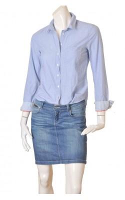 Camasa bleu H&M L.o.g.g. fitted, marime 36