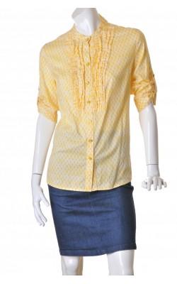 Camasa galbena cu print alb Charter Club, marime 50