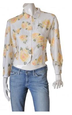 Camasa alba Cubus Classic, print floral, marime 38