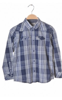 Camasa bleumarin cu alb Garcia Jeans, 8-9 ani
