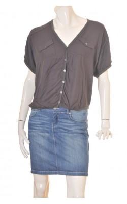 Camasa gri supradimensionata Pulz Jeans, marime L