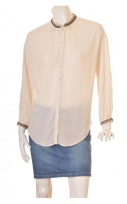 Camasa H&M, guler cu aplicatii metalice, marime 38
