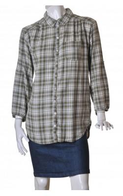 Camasa lunga bleu cu bej H&M, marime 40