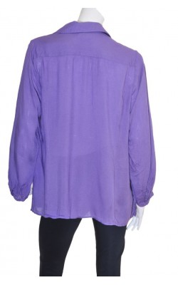 Camasa mov cu broderie Andrea by Pm Norway, marime 48/50