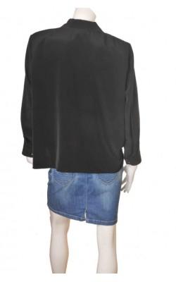 Camasa neagra brodata Clothes Contact, marime 52