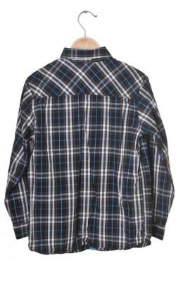 Camasa neagra cu dungi bleu Lindex, 10-11 ani