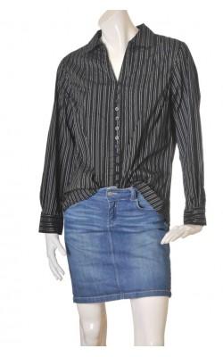 Camasa neagra cu dungi H&M B.B., marime 50