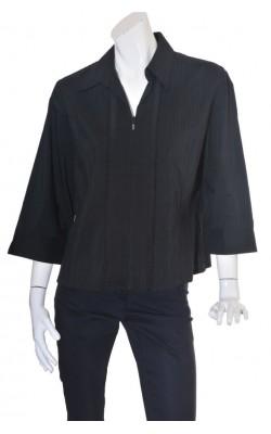 Camasa neagra cu fermoar Brandtex, marime 50