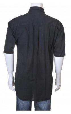 Camasa neagra Part Two, maneca scurta, marime XL