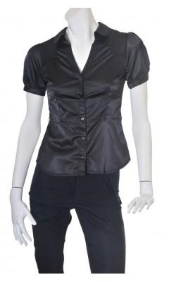 Camasa neagra satin H&M, marime 36