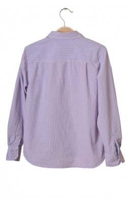 Camasa patratele albe si lavanda H&M L.o.g.g., 9-10 ani