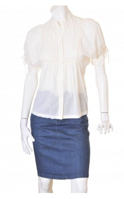 Camasa alba cu pense decorative H&M, marime 34