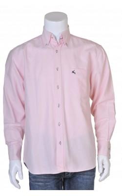 Camasa roz detalii bleumarin Marc Montino, marime M