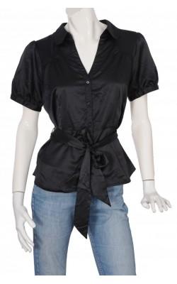 Camasa satin negru H&M, marime 46