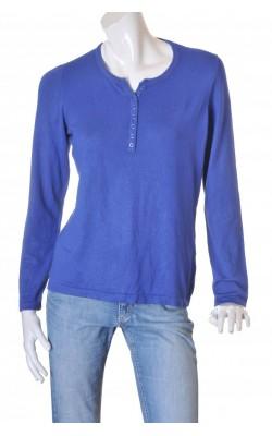Cardigan albastru tricot fin Micha, marime L