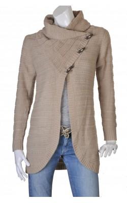 Cardigan bej tricot ajurat Only, marime L