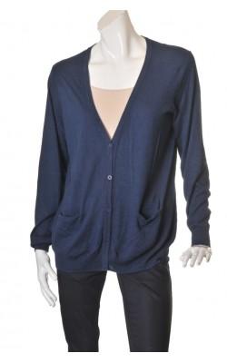 Cardigan bleumarin tricot fin Lindex, marime 48/50