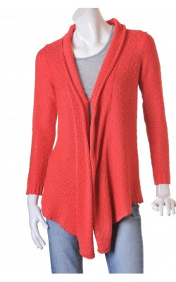 Cardigan drapat rosu coral Andrea, marime M