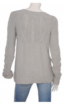 Cardigan gri tricot bumbac H&M L.O.G.G., marime XL