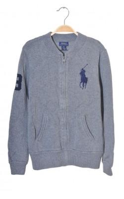 Cardigan gri Polo Ralph Lauren, tricot gros, 14 ani