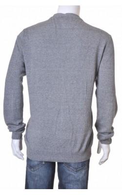 Cardigan gri tricot fin bumbac H&M, marime XL