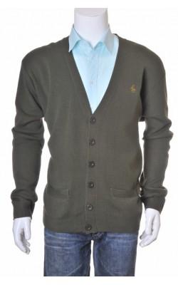 Cardigan kaki Custi Mikelo, amestec lana, marime XL