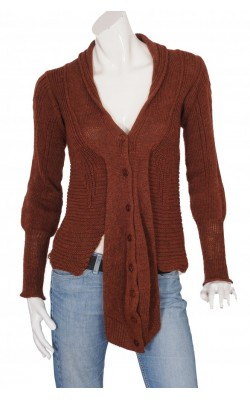 Cardigan asimetric lana alpaca Lilith, marime S