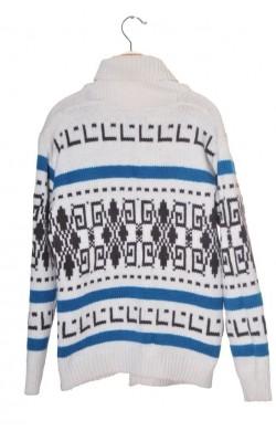 Cardigan lana Shetland Poco Loco, marime L
