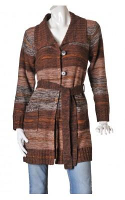Cardigan lung Fransa, amestec lana, marime L