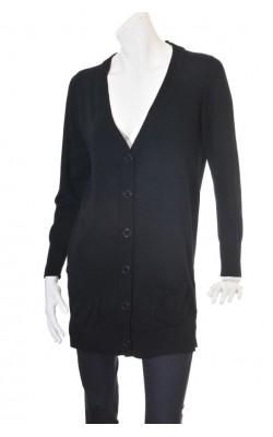 Cardigan lung negru Cubus, marime XL