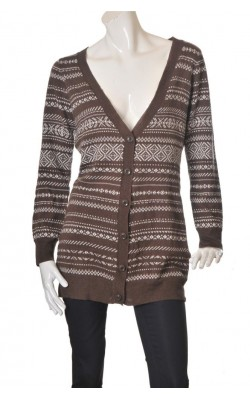 Cardigan lung Vero Moda, amestec lana, marime L