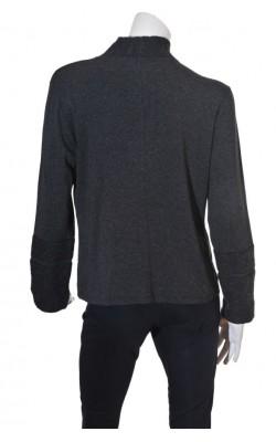 Cardigan mix tricot lana si jerseu Andrea, marime XL