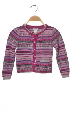 Cardigan Monsoon, bumbac si lana, 5-6 ani