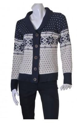 Cardigan motive Craciun Cubus, amestec lana, marime L