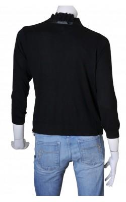 Cardigan negru Tara Collection, modal si bumbac, marime XL
